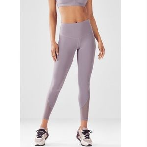Fabletics high waisted mesh PureLux 7/8 lavender